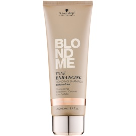 Schwarzkopf Professional Blondme bezsulfátový šampon pro teplé odstíny blond  250 ml