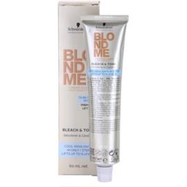 Schwarzkopf Professional Blondme Color tonizáló krém a hideg szőke árnyalatokért  60 ml