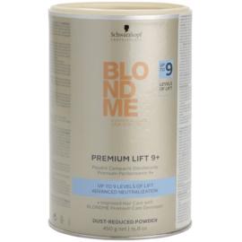 Schwarzkopf Professional Blondme Color premium posvetlitveni 9+ puder z zmanjšano prašnostjo za profesionalno uporabo  450 g