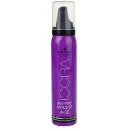Schwarzkopf Professional IGORA Expert Mousse tinte en espuma para cabello tono 4-68 Medium Brown Chocolate Red  100 ml