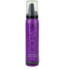 Schwarzkopf Professional IGORA Expert Mousse pena za barvanje za lase odtenek 5-5 Light Brown Gold  100 ml