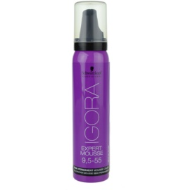Schwarzkopf Professional IGORA Expert Mousse coloração em mousse  para cabelo tom 9,5-55 Honey  100 ml