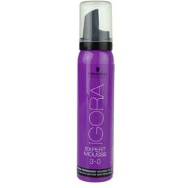 Schwarzkopf Professional IGORA Expert Mousse coloração em mousse  para cabelo tom 3-0 Dark Brown  100 ml