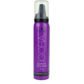 Schwarzkopf Professional IGORA Expert Mousse Schaumtönung für das Haar Farbton 7-0 Medium Blond  100 ml