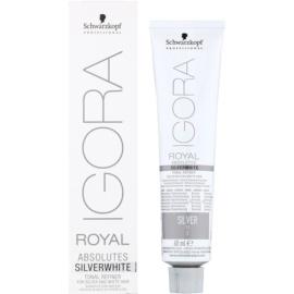 Schwarzkopf Professional IGORA Royal Absolutes SilverWhite demi-permanente Haartönung für garues und weißes Haar Farbton Silver  60 ml