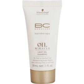 Schwarzkopf Professional BC Bonacure Oil Miracle Marula Oil Champô com óleo para um cabelo suave para todos os tipos de cabelos  30 ml