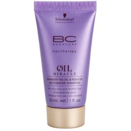 Schwarzkopf Professional BC Bonacure Oil Miracle Barbary Fig Oil obnovující šampon pro velmi suché a poškozené vlasy  30 ml