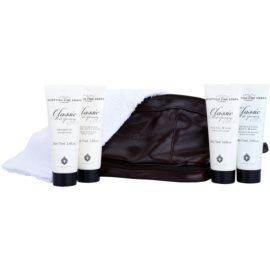 Scottish Fine Soaps Classic Male Grooming dárková sada II.  šampon 75 ml + balzám po holení 75 ml + čisticí pleťový gel 75 ml + tělový peeling 75 ml + ručník
