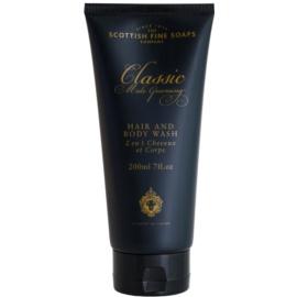 Scottish Fine Soaps Classic Male Grooming sprchový gél pre mužov 200 ml