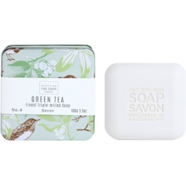 Scottish Fine Soaps Green Tea Bar Soap in a Tin Container  100 g