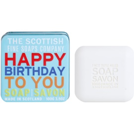 Scottish Fine Soaps Happy Birthday to You Săpun de lux în borcan de metal  100 g