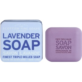 Scottish Fine Soaps Lavender luxusní mýdlo v plechové dóze  100 g