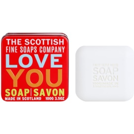 Scottish Fine Soaps Love You Săpun de lux în borcan de metal  100 g