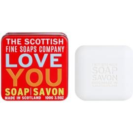 Scottish Fine Soaps Love You luxusné mydlo v plechovej dóze  100 g