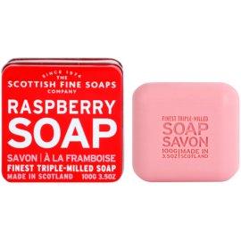 Scottish Fine Soaps Raspberry jabón de lujo en frasco metálico  100 g