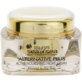 Sea of Spa Alternative Plus noční aktivní výživný krém pro normální až suchou pleť  50 ml