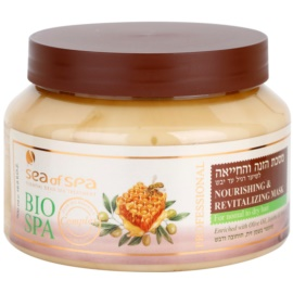 Sea of Spa Bio Spa Maske Für normales bis trockenes Haar Nourishing & Revitalizing Mask with Olive Oil, Jojoba and Honey) 500 ml