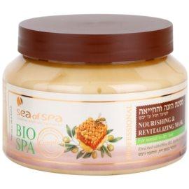Sea of Spa Bio Spa maska pro normální až suché vlasy Nourishing & Revitalizing Mask with Olive Oil, Jojoba and Honey) 500 ml