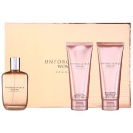 Sean John Unforgivable Woman dárková sada I. parfémovaná voda 125 ml + sprchový gel 100 ml + tělové mléko 100 ml