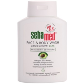 Sebamed Wash delikatna emulsja myjąca do twarzy i ciała z olejem z oliwek  200 ml