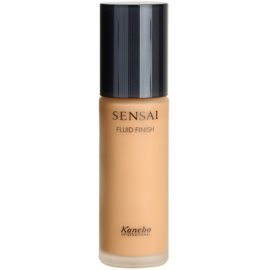 Sensai Fluid Finish base líquida tom 204.5 Amber Beige SPF15  30 ml