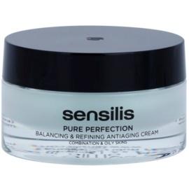 Sensilis Pure Perfection нормалізуючий крем для жирної шкіри проти розтяжок та зморшок  50 мл