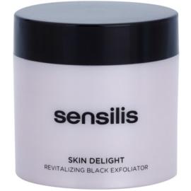 Sensilis Skin Delight revitalizační peeling s aktivním uhlím pro rozjasnění pleti  75 ml