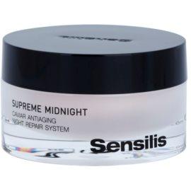 Sensilis Supreme Midnight creme noturno regenerador com efeito antirrugas  50 ml