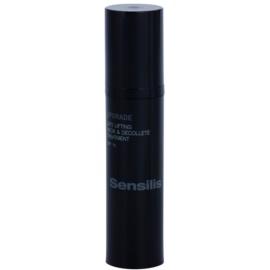 Sensilis Upgrade remodellierendes Lifting-Serum für Hals und Dekolleté LSF 15  50 ml