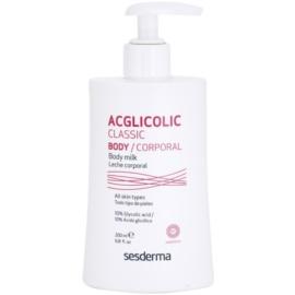 Sesderma Acglicolic Classic Body feszesítő testápoló tej peeling hatással  200 ml