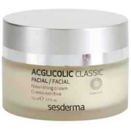 Sesderma Acglicolic Classic Facial nährende und verjüngende Creme für trockene bis sehr trockene Haut  50 ml
