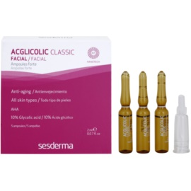 Sesderma Acglicolic Classic Facial sérum pro komplexní protivráskovou péči  5 x 2 ml
