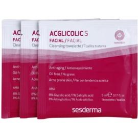 Sesderma Acglicolic S Facial почистващи кърпички за мазна и проблемна кожа  14 бр.