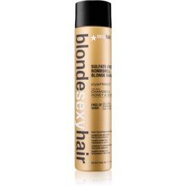 Sexy Hair Blonde bezsulfátový šampon pro blond vlasy  300 ml