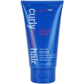 Sexy Hair Curly krém pro kontrolu a tvarovatelnost kudrnatých vlasů  150 ml