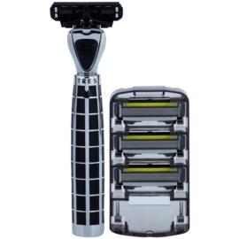 Shave-Lab Luxury Tres P.4 holicí strojek + náhradní břity 3 ks
