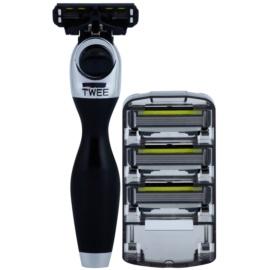 Shave-Lab Premium Twee P.4 holicí strojek + náhradní břity 3 ks