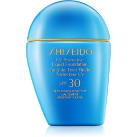 Shiseido Sun Foundation voděodolný tekutý make-up SPF30 odstín Dark Ivory  30 ml