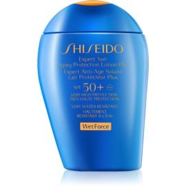 Shiseido Sun Protection слънцезащитен лосион за лице и тяло SPF50+  100 мл.