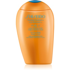 Shiseido Sun Protection Tanning Emulsion for Face and Body SPF 6 150 ml