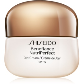 Shiseido Benefiance NutriPerfect Day Cream SPF15 омолоджуючий денний крем SPF 15  50 мл