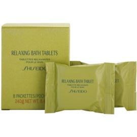 Shiseido Body Relaxing relaxační perlivá tableta do koupele  8 ks