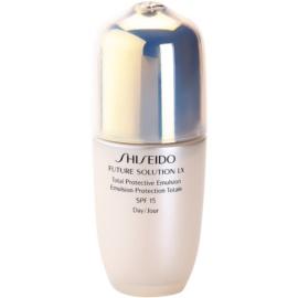 Shiseido Future Solution LX emulsja ochronna na dzień SPF15  75 ml
