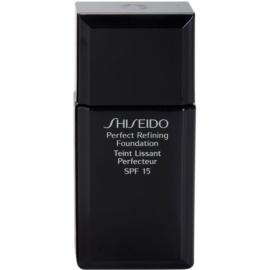 Shiseido Base Perfect Refining стійкий  тональний  крем SPF 15 відтінок I00 Very Light Ivory 30 мл