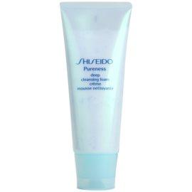 Shiseido Pureness kremowa pianka dogłębnie oczyszczająca z mikrogranulkami  100 ml