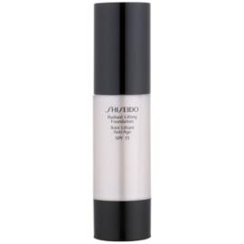 Shiseido Base Radiant Lifting rozjasňující liftingový make-up SPF15 odstín B100 Very Deep Beige 30 ml