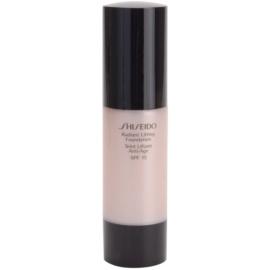 Shiseido Base Radiant Lifting rozjasňující liftingový make-up SPF15 odstín I00 Very Light Ivory 30 ml