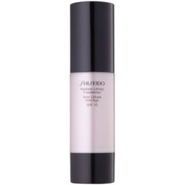 Shiseido Base Radiant Lifting rozjasňující liftingový make-up SPF15 odstín I100 Very Deep Ivory 30 ml