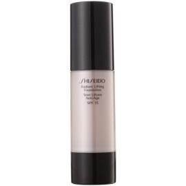 Shiseido Base Radiant Lifting rozjasňující liftingový make-up SPF15 odstín O80 Deep Ochre 30 ml