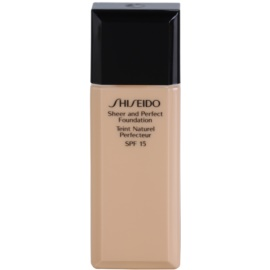 Shiseido Base Sheer and Perfect make up lichid  SPF 15 culoare B 60 Natural Deep Beige 30 ml